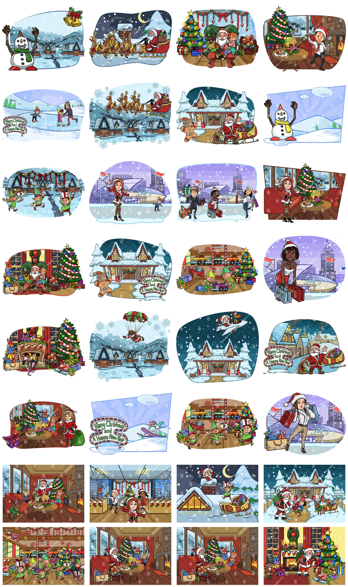 Christmas Scenes Collection