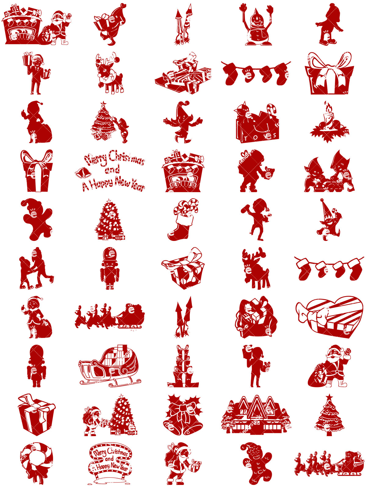 Christmas Silhouettes Collection
