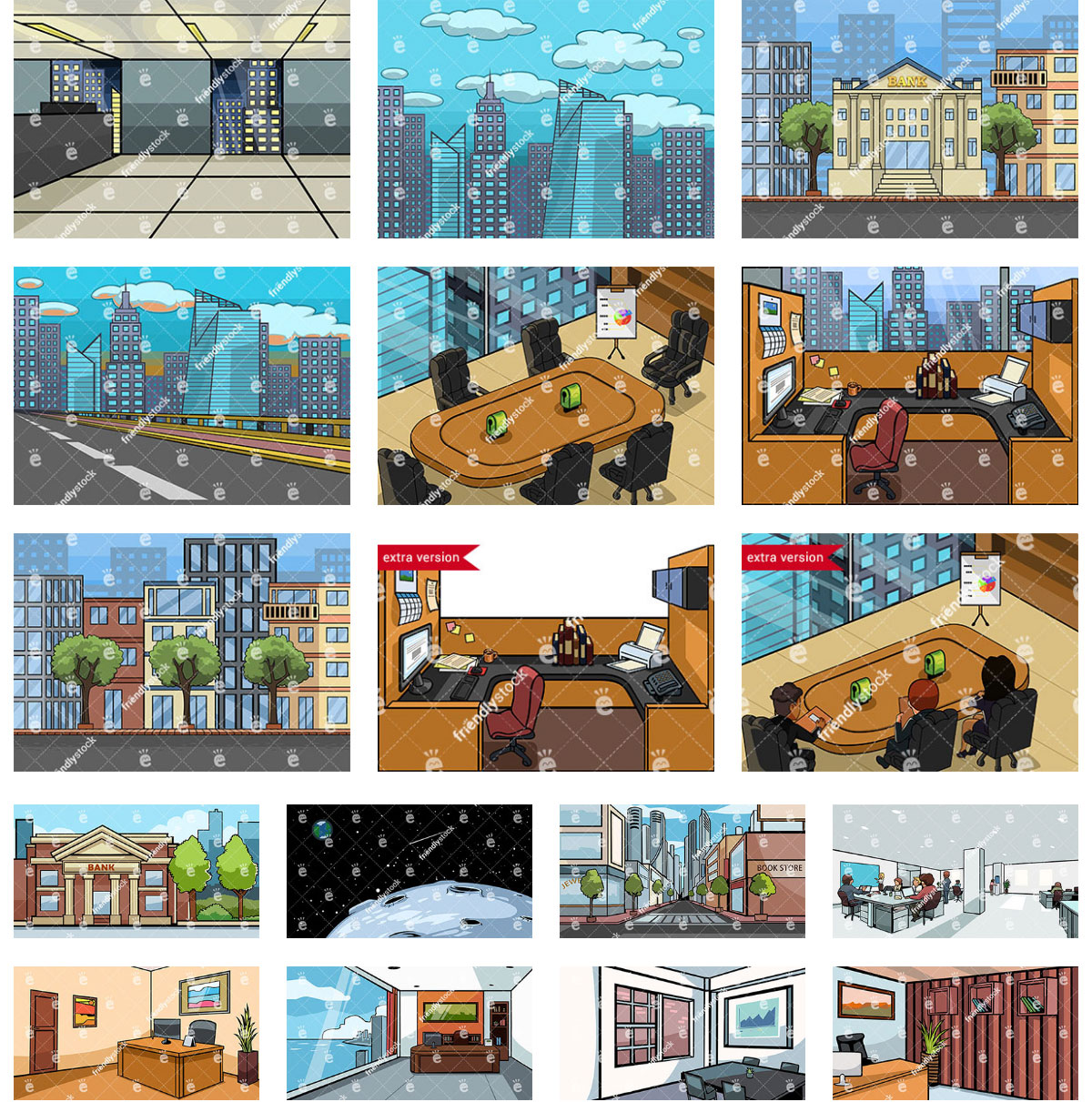 Business Themed Vector Backgrounds Collection