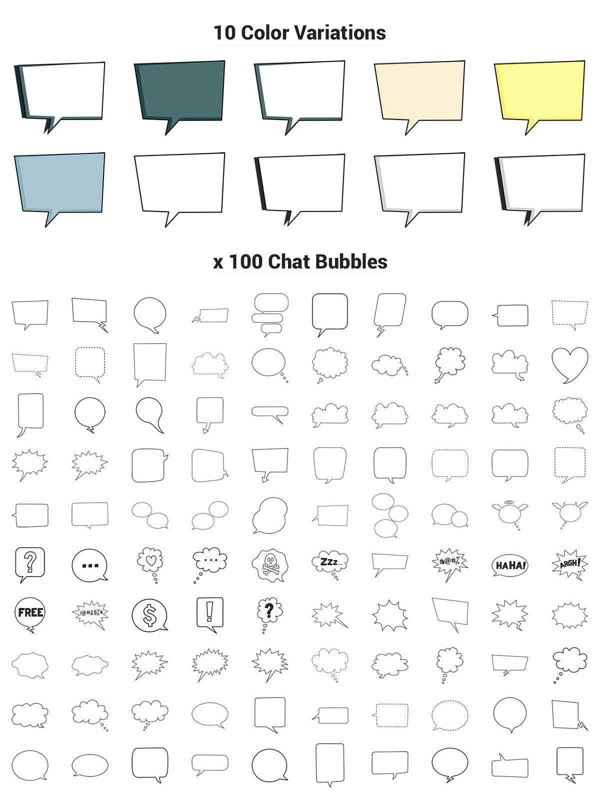 1000 Chat Bubbles