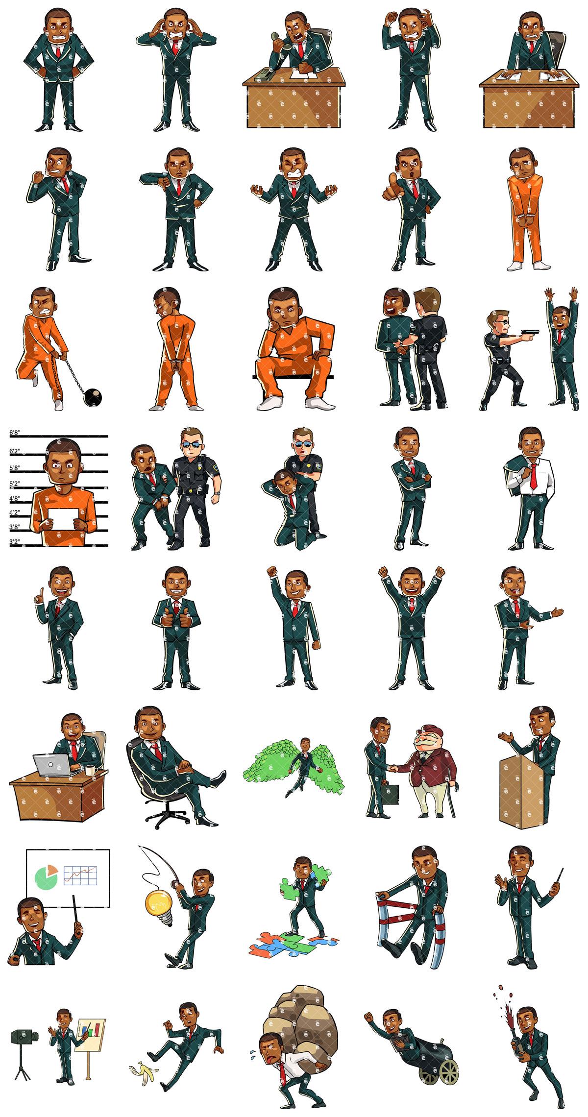 Darryl - Black Businessman Set