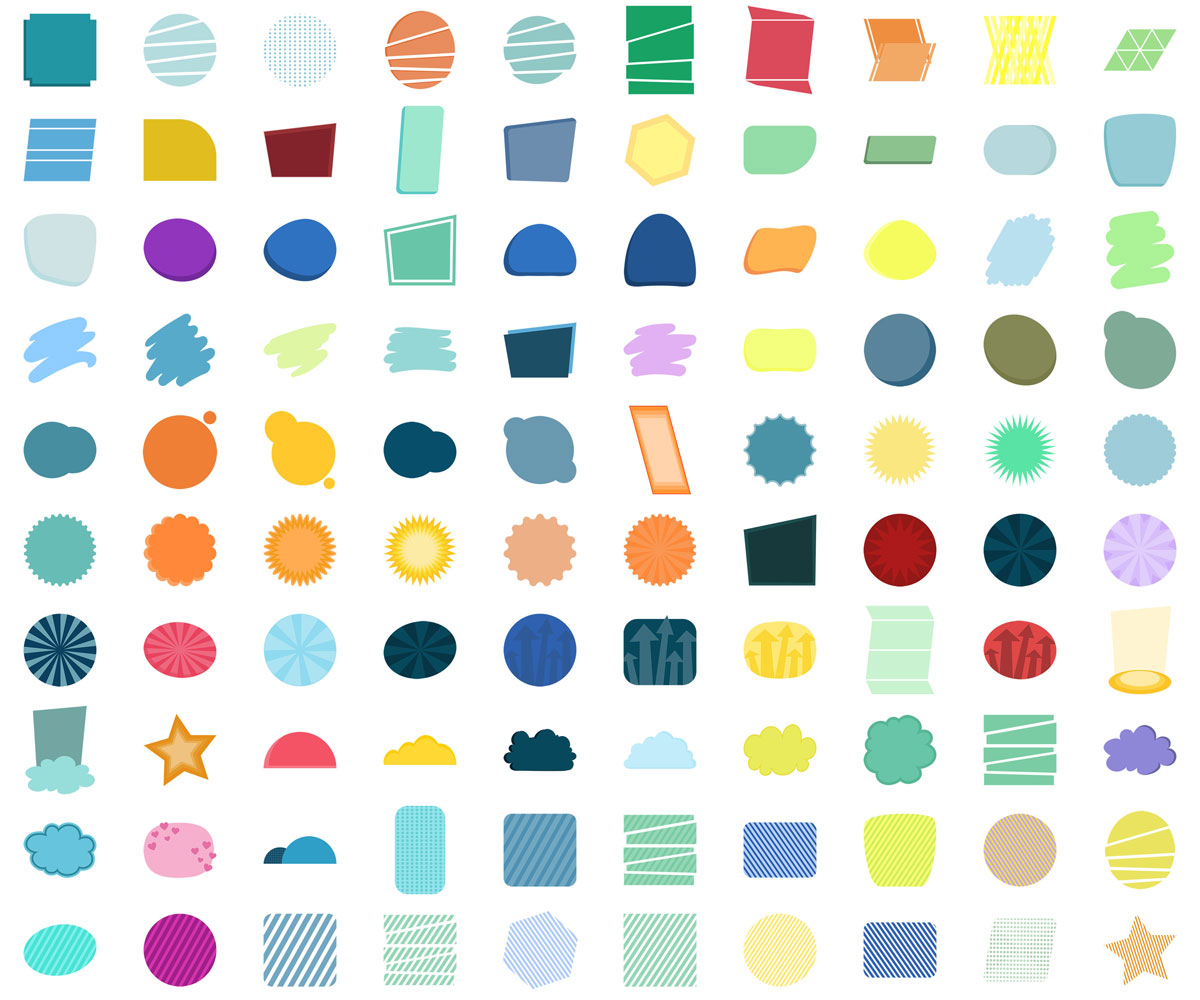 100 Vector Shapes
